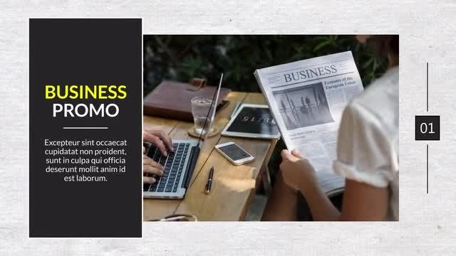 Minimal Business Promo - Premiere: Premiere Pro Templates