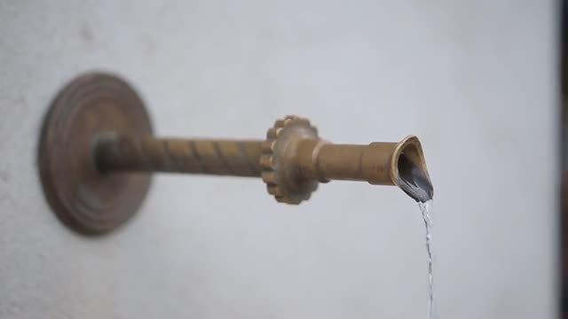 Closeup Of Sarajevo Fountain Pipe: Stock Video