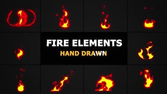 Cartoon Fire Elements: Motion Graphics