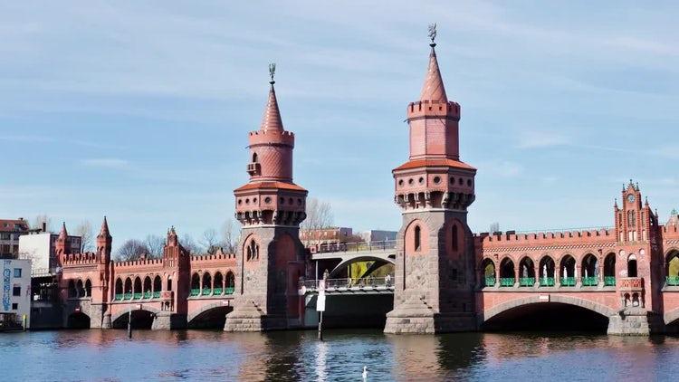 Berlin Germany City Hyperlapse: Stock Video