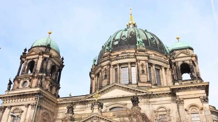 Berlin Cathedral City Hyperlapse: Stock Video