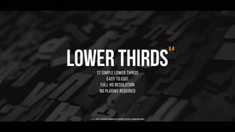 Lower Thirds v.4: Premiere Pro Templates