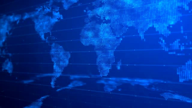 Digital World Map Background 01: Stock Motion Graphics