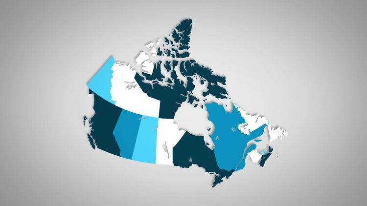 Canadian Provinces Combine: Stock Motion Graphics