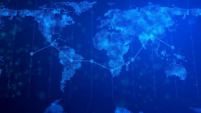 Digital World Map Background 02: Stock Motion Graphics