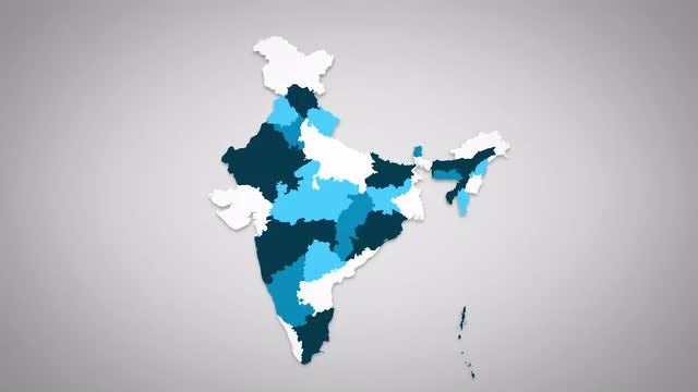 Indian States Combine: Stock Motion Graphics