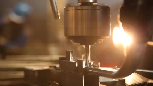 Metal Drilling In A Factory : Stock Video