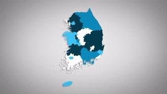 South Korean Provinces Combine: Motion Graphics