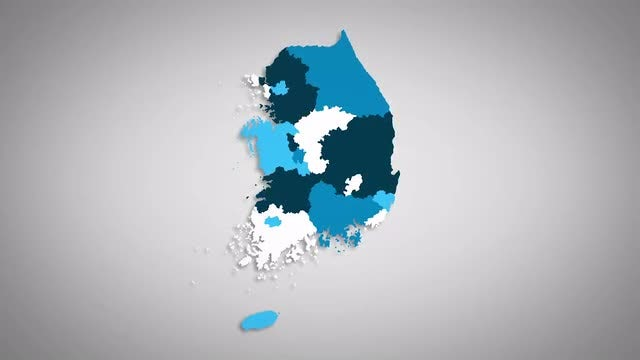 South Korean Provinces Combine: Stock Motion Graphics