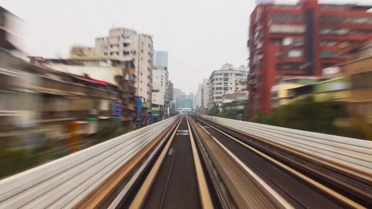 Train Hyperlapse Taipei City Asia: Stock Video