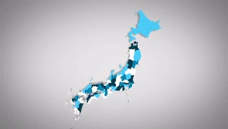 Japanese Prefectures Combine: Motion Graphics