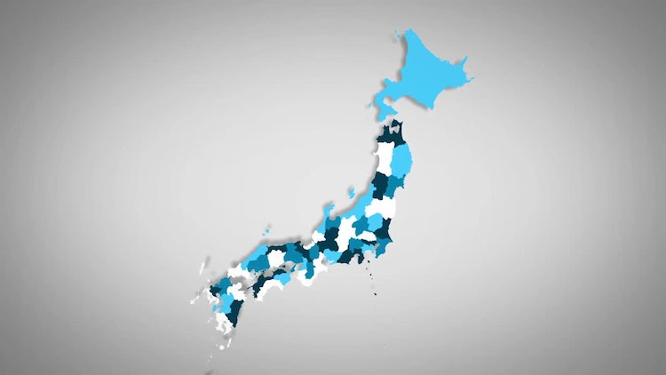 Japanese Prefectures Combine: Stock Motion Graphics