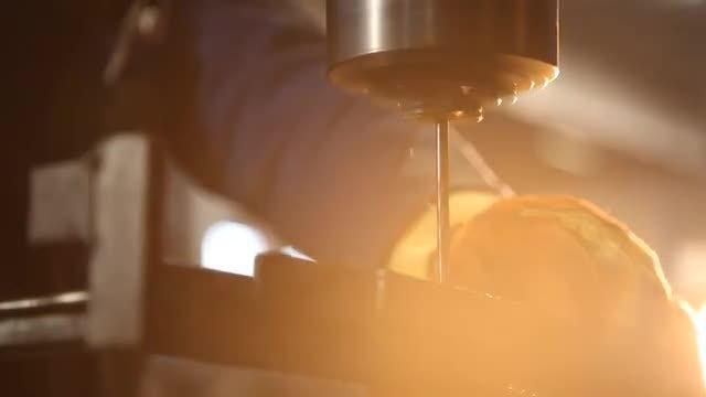 Man Drilling Metal: Stock Video