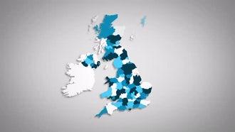 United Kingdom Counties Combine: Motion Graphics