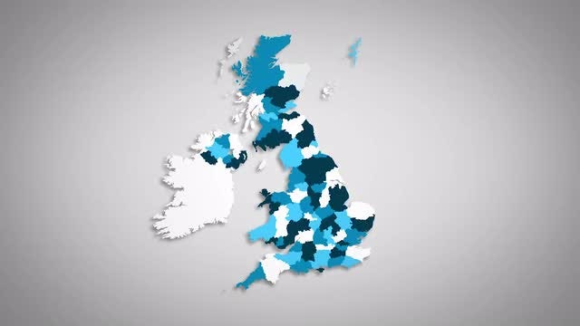 United Kingdom Counties Combine: Stock Motion Graphics