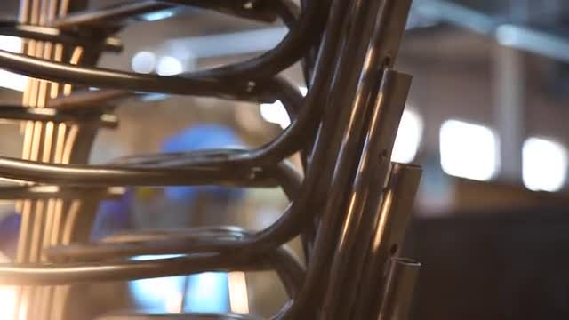 A Pile Of Steel Pipes : Stock Video
