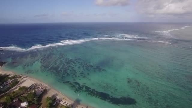 Mauritius Coast And The Indian Ocean: Stock Video