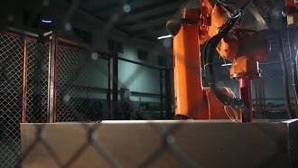 Industrial Welding Robot: Stock Video