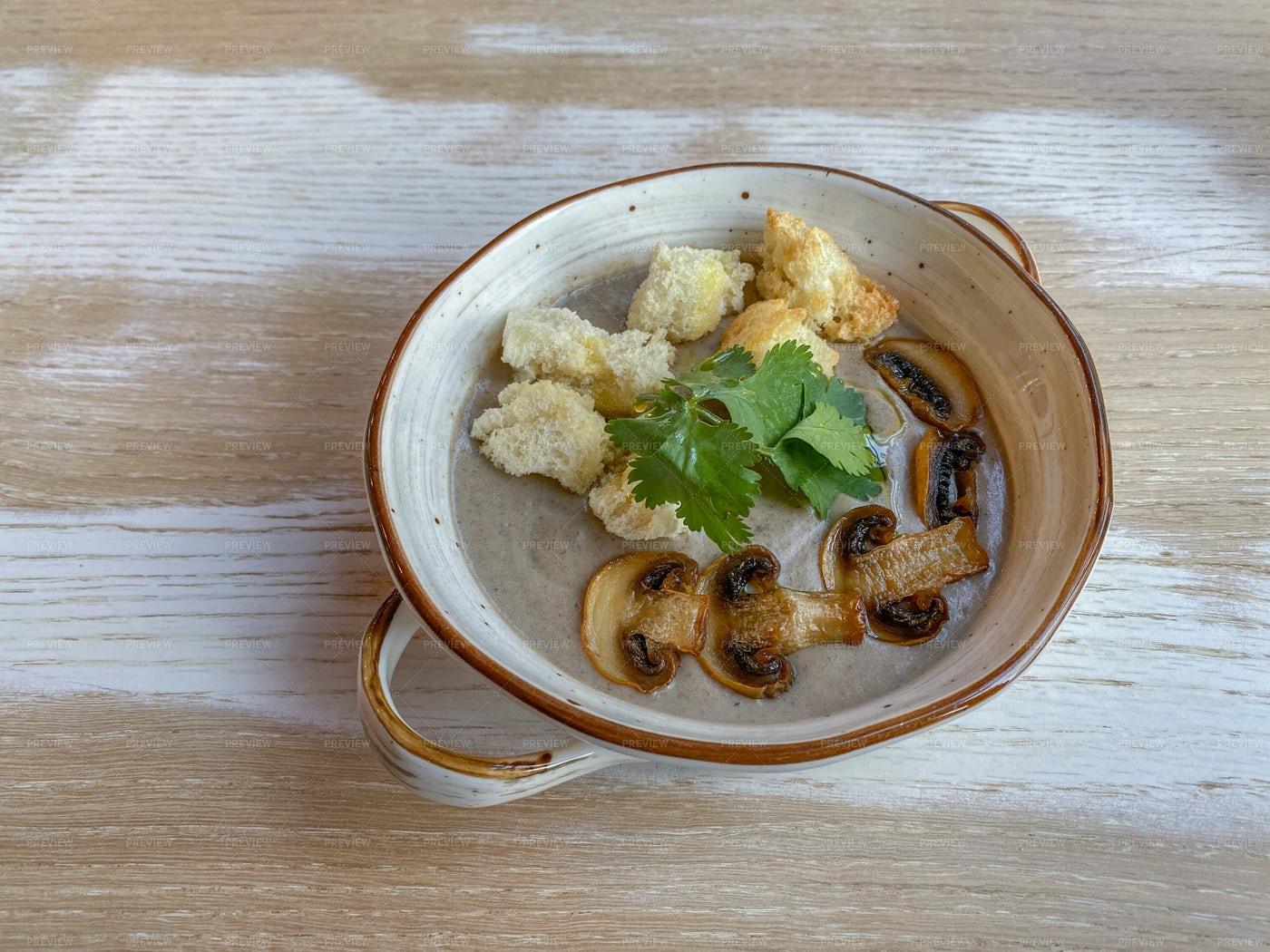 Cream Soup With Mushroom: Stock Photos