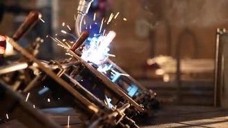 Industrial Welding Robot 07: Stock Video