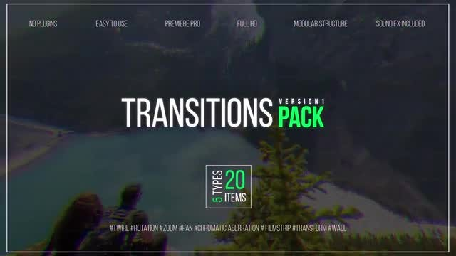 Transitions Pack V.1: Premiere Pro Templates