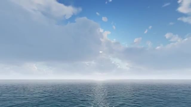 Fly Over The Water: Stock Motion Graphics