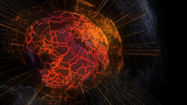 Cyber Earth Background: Motion Graphics