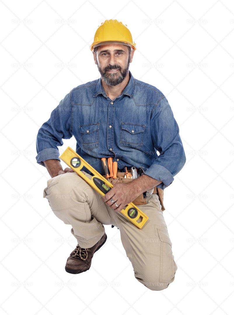 Happy Handyman: Stock Photos