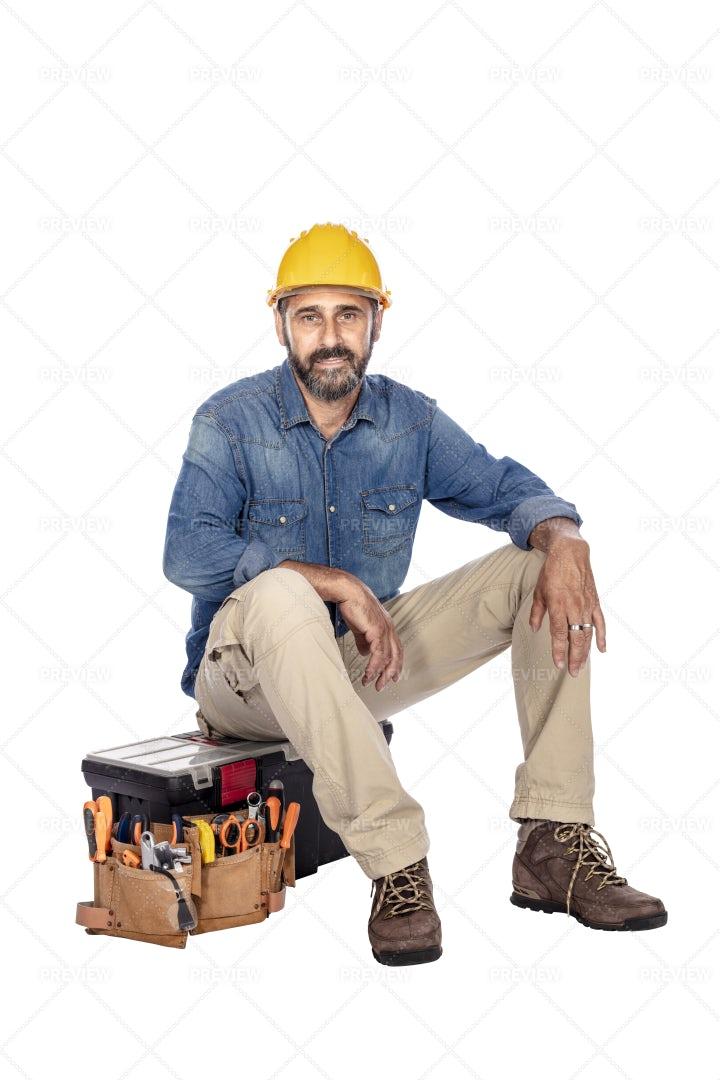 Handyman With Tools: Stock Photos