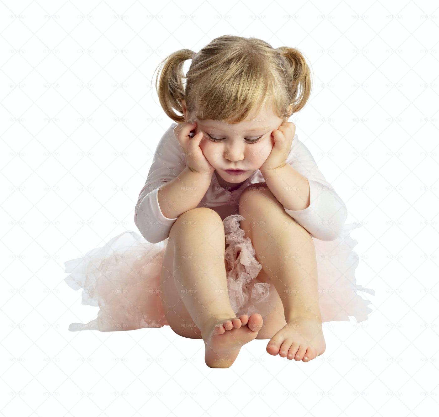 Little Ballerina In Tutu Isolated: Stock Photos