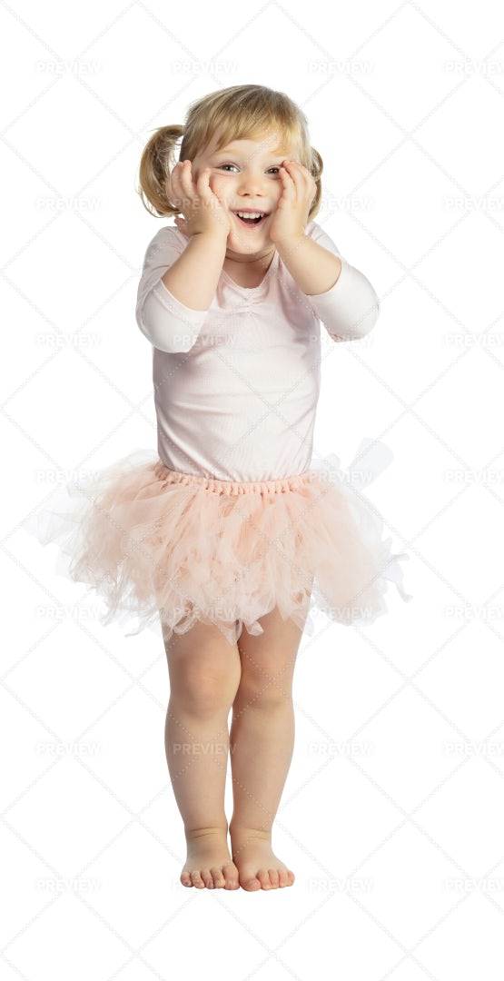 Happy Child With Tutu: Stock Photos