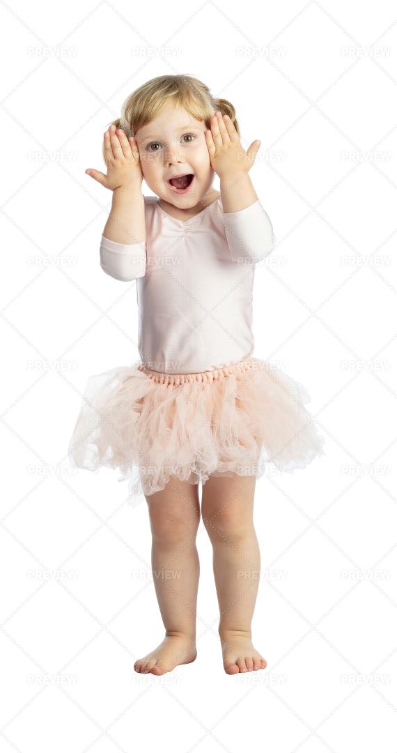 Female Child With Tutu: Stock Photos