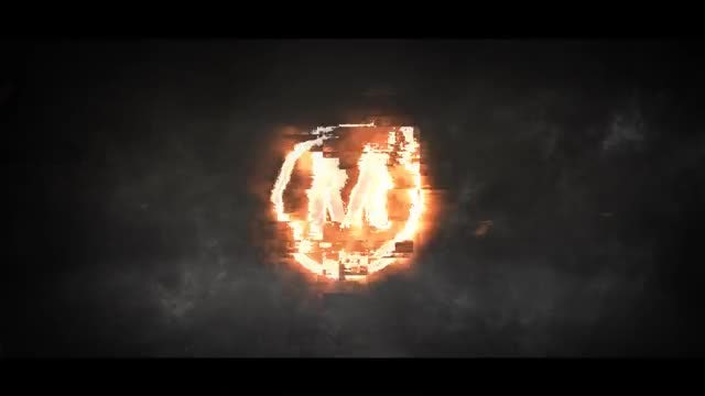 Glitch Fire Logo 4k: After Effects Templates