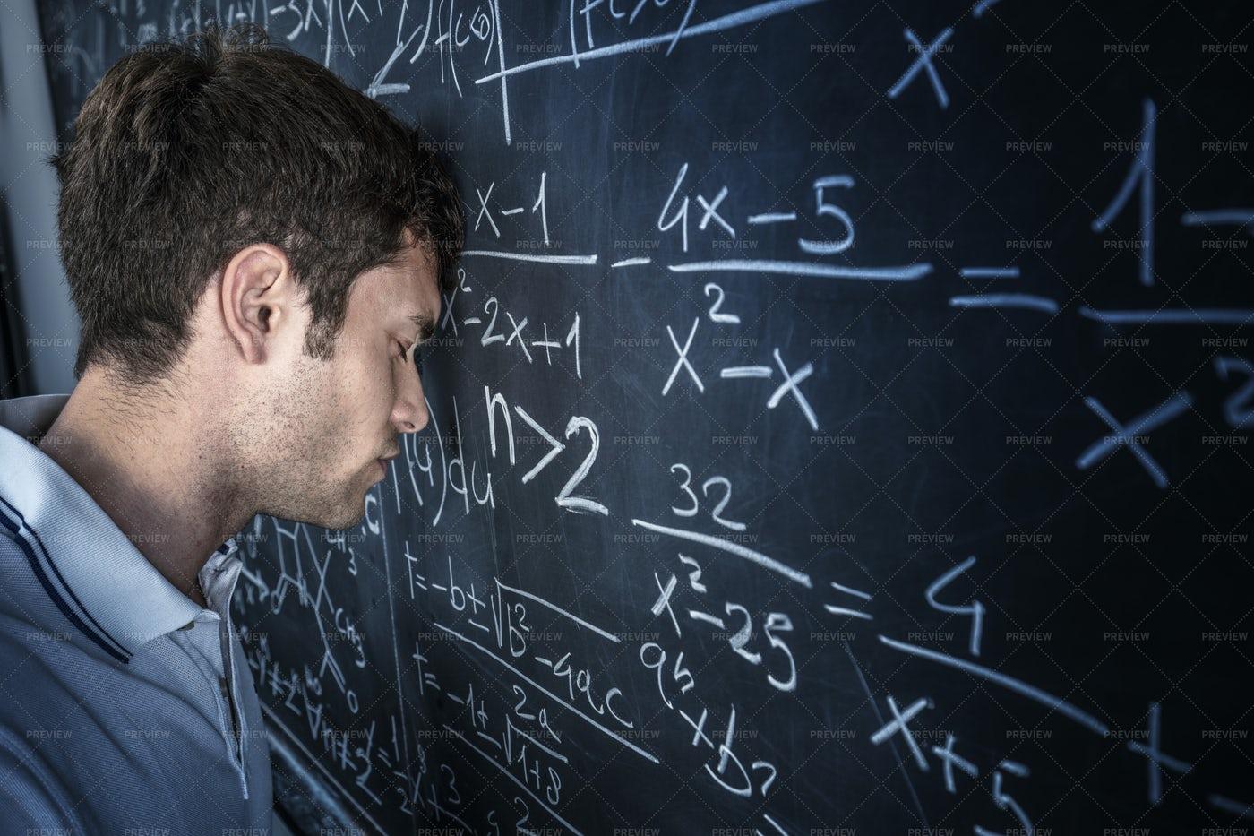 Stressed Man Student: Stock Photos