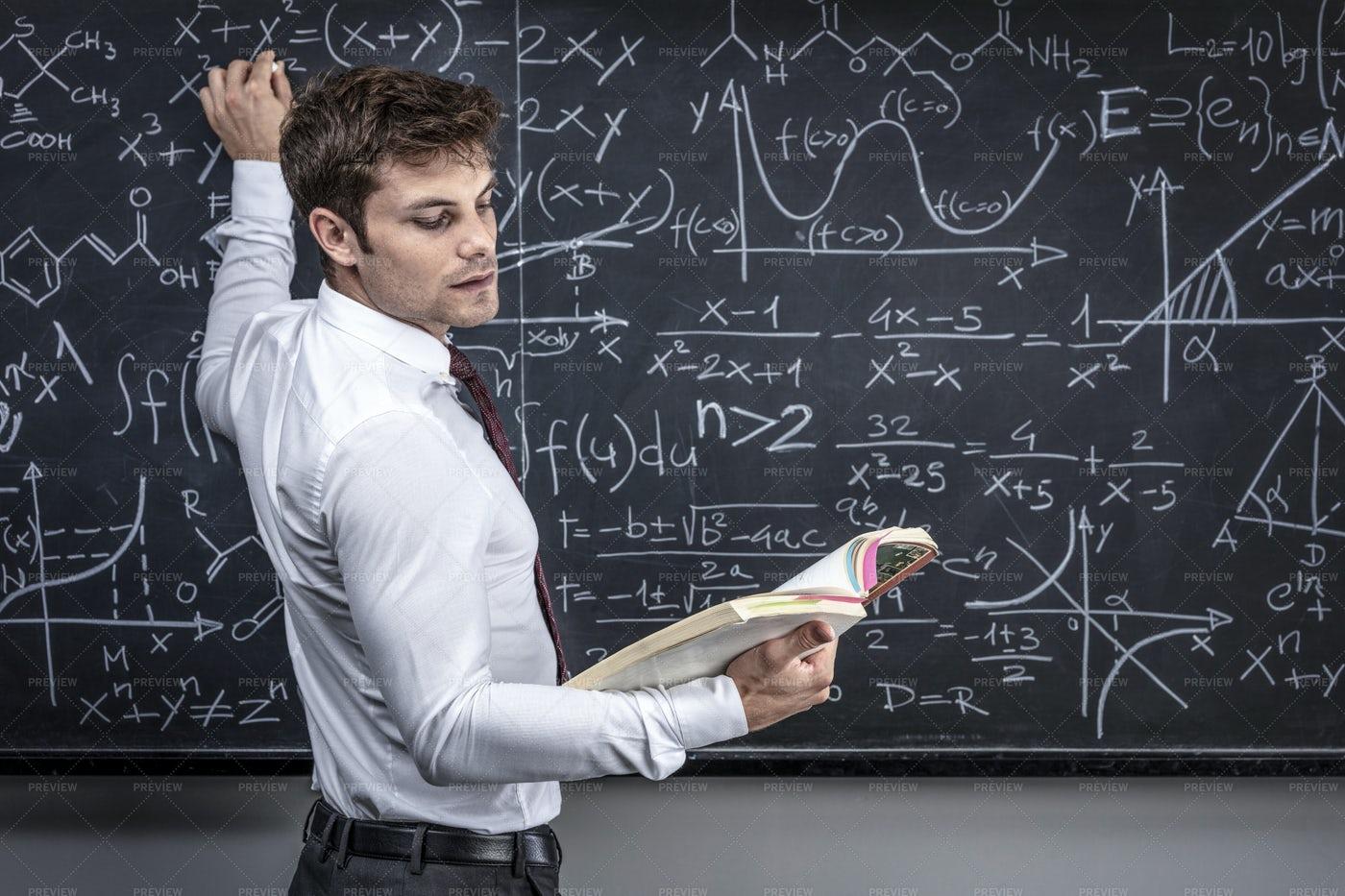 Teacher Writing Formulas: Stock Photos