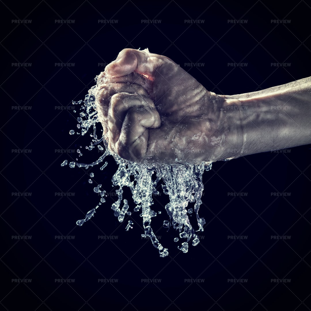 Water And Hand: Stock Photos