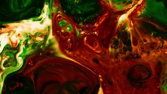 Turbulence In Colorful Paint Mixture: Stock Video
