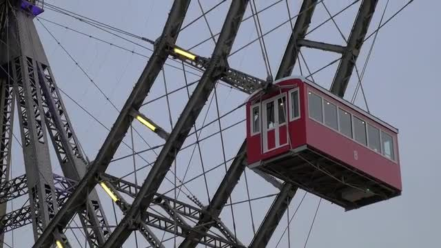 Moving Ferris Wheel In Austria: Stock Video