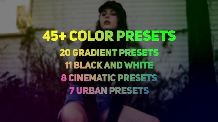 Urban Gradient Color Presets: Premiere Pro Presets
