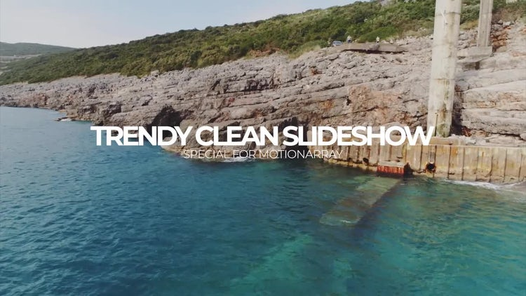 Trendy Clean Slideshow: Premiere Pro Templates