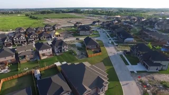 Flying Over Newly Constructed Neighborhood : Stock Video