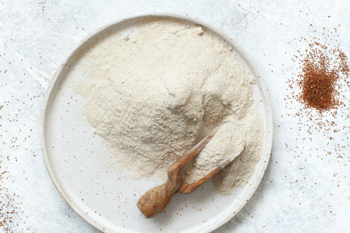Teff Flour: Stock Photos