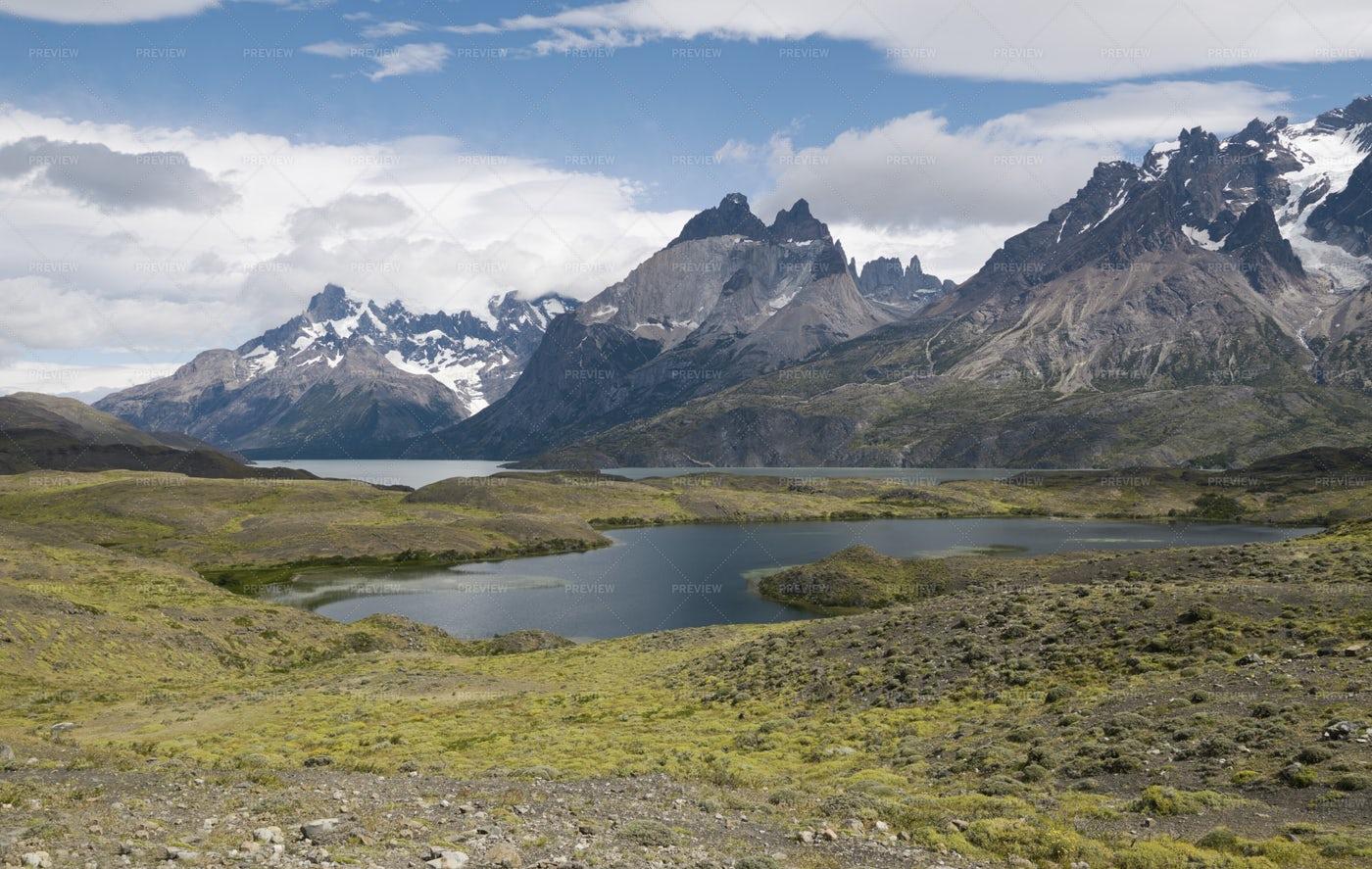Torres Del Paine View: Stock Photos