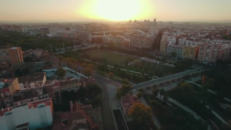 Valencia At Sunset : Stock Video