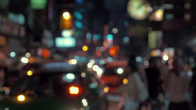 Night Life In Bangkok, Thailand: Stock Video