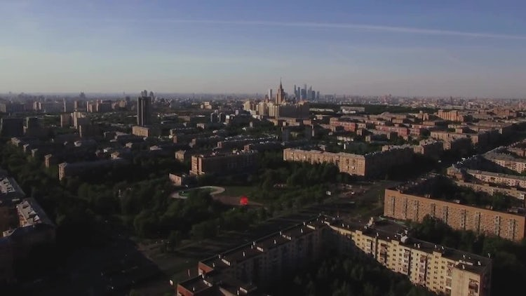 Aerial View Of Moscow City: Stock Video