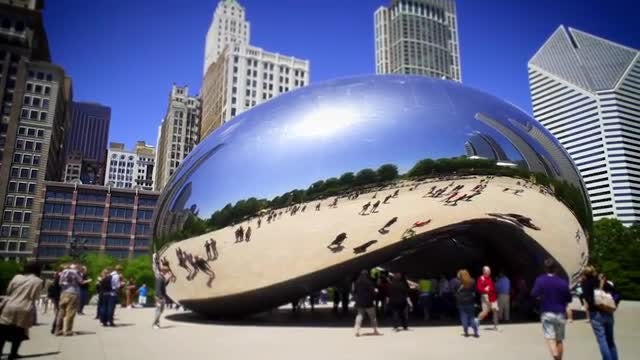 Bean Sculpture In Chicago: Stock Video