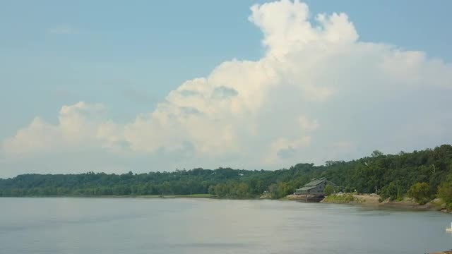 Time-lapse Of Mississippi River : Stock Video