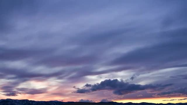 Purple Sunset In Montana : Stock Video