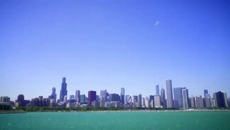 Horizontal Pan Of Chicago Downtown : Stock Video